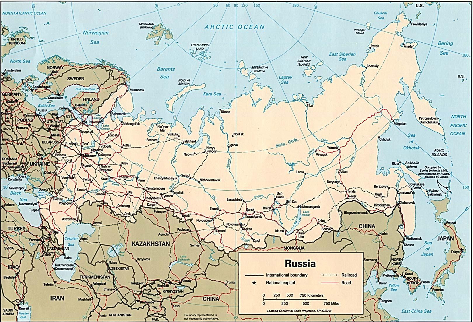 Pohjois Venajan Kartta Kartta Pohjois Venaja Ita Eurooppa