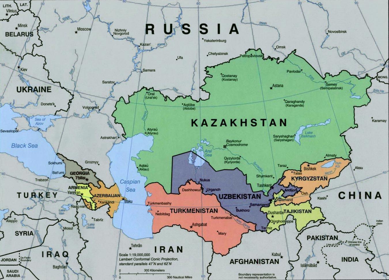 Venajan Ja Keski Aasian Kartta Kartta Venajan Ja Keski Aasiassa