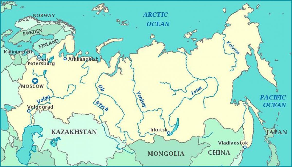 Joet Venajan Kartta Kartta Venajan Joet Ita Eurooppa Eurooppa