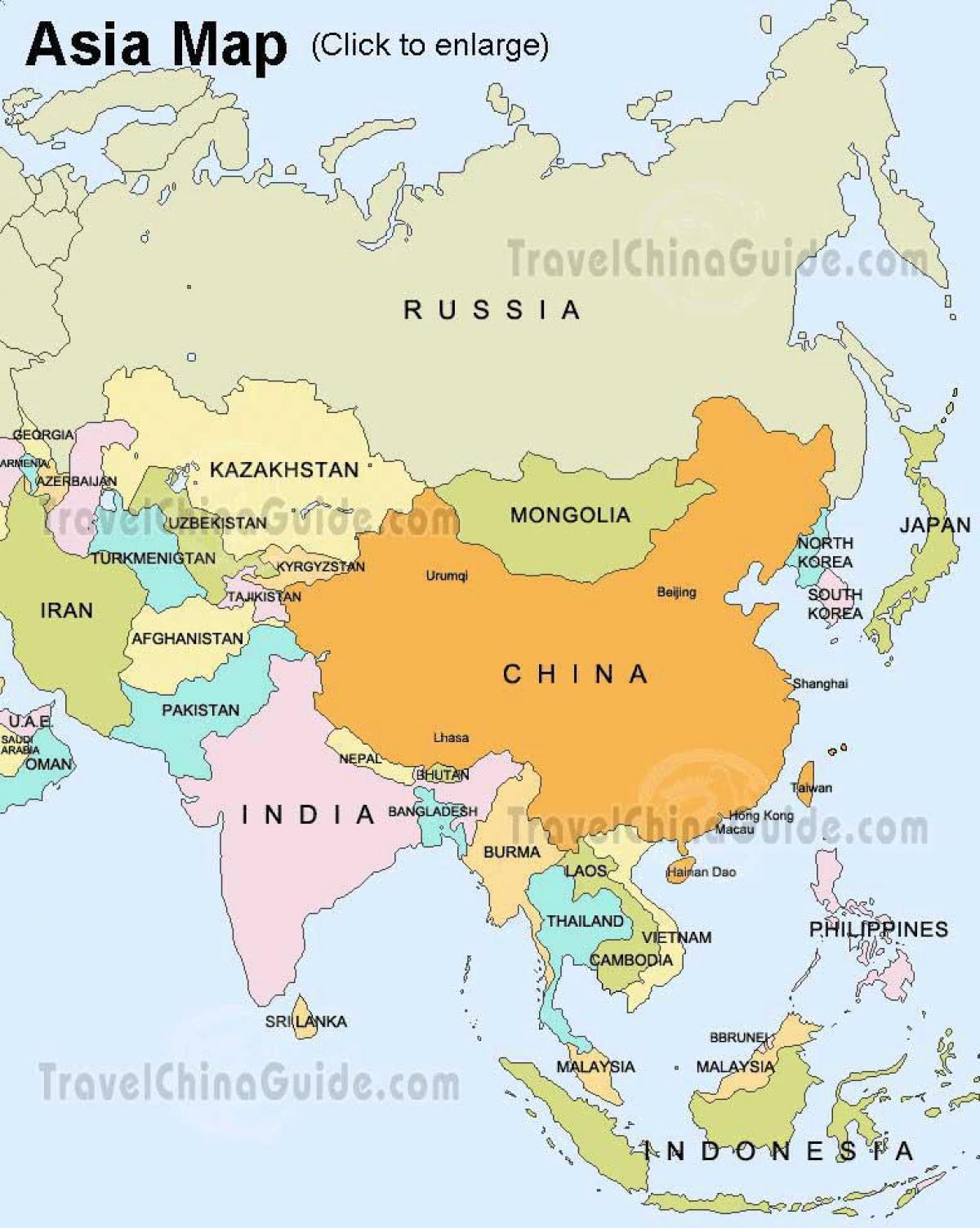 Kartta Venajan Ja Aasia Venaja Aasia Kartta Ita Eurooppa